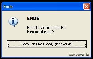 lustige PC Sprüche melden